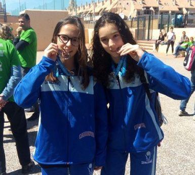 L'Ari i la Paula Plata amb la Selecció Catalana Mini